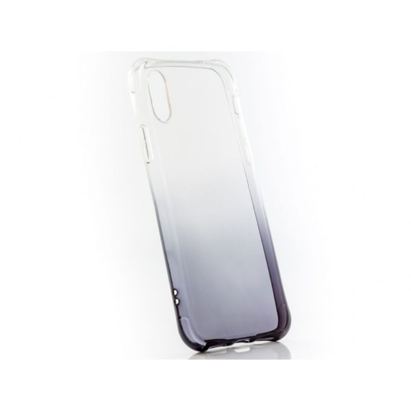 Funda Silicona Degradada IPHONE X Negra