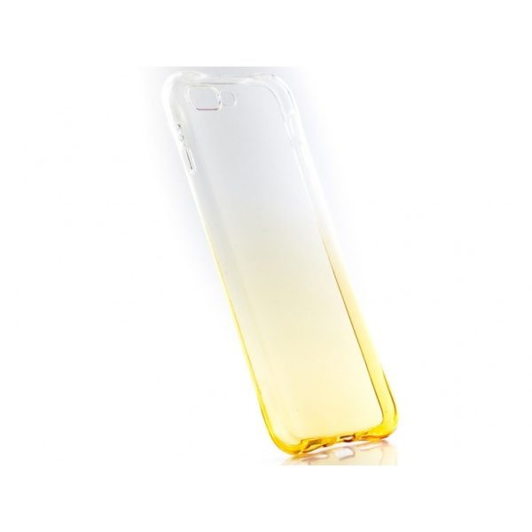 Funda Silicona Degradada IPHONE 7/8 Plus Amarillo