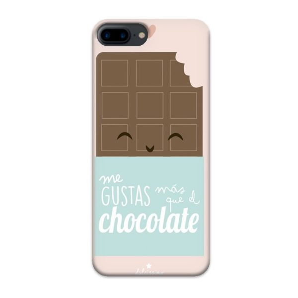 Funda Me gustas mas que el chocolate para Iphone 7/8 Plus
